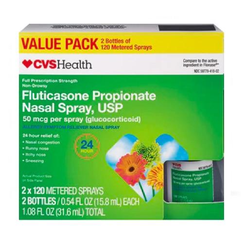 how to take fluticasone propionate nasal spray